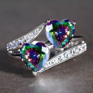 COPY - Heart to Heart Mystic Rainbow French Pave'…